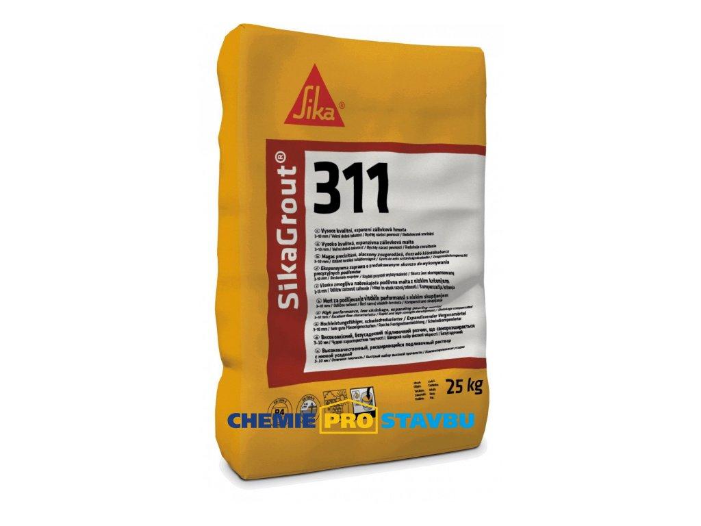 SIkaGrout 311 - 25 kg cementová zálivková malta vrstva 3 - 10 mm