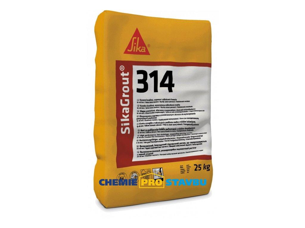 SikaGrout-314  25 kg cementová zálivková malta vrstva 10 - 40 mm