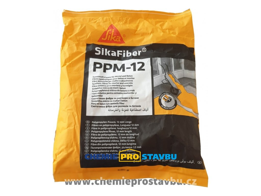 Sika Fiber PPM 12, 600g - polypropylenová vlákna do betonu