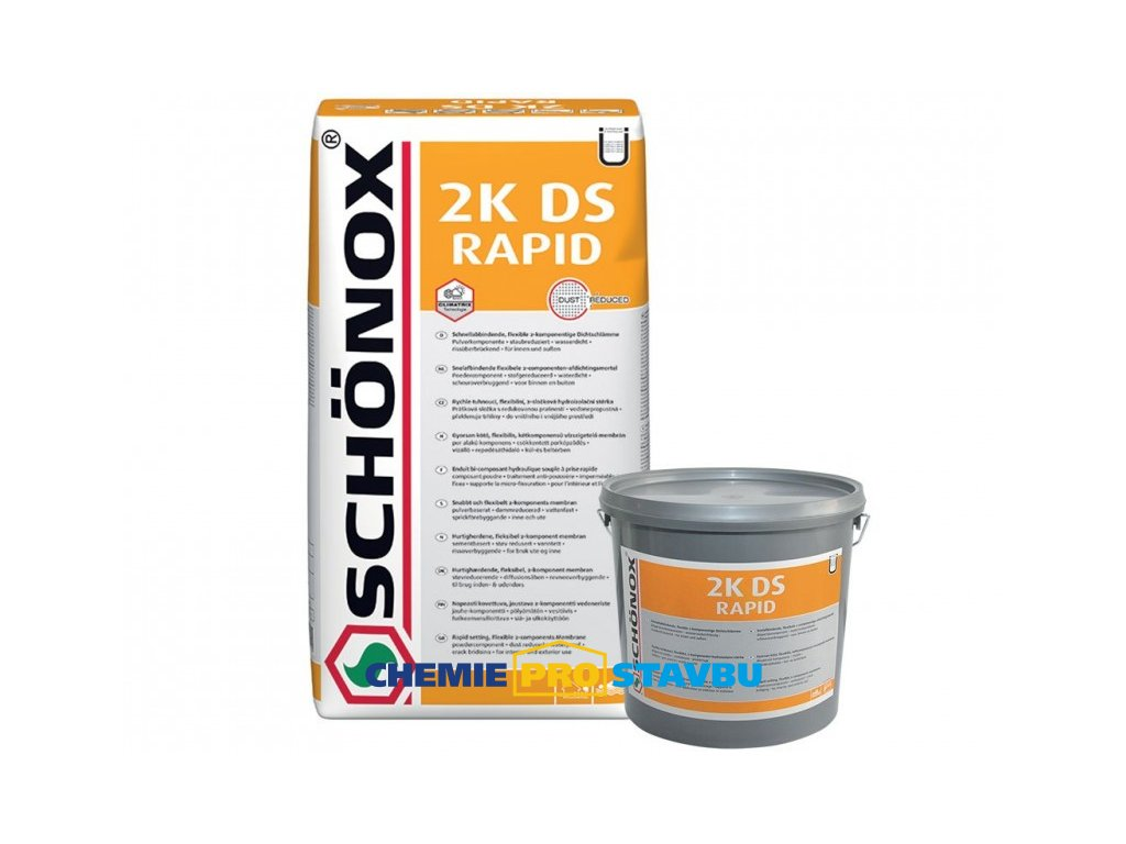 SCHÖNOX 2K DS RAPID, 17,5kg - rychle tvrdnoucí flexibilní cementová hydroizolační stěrka