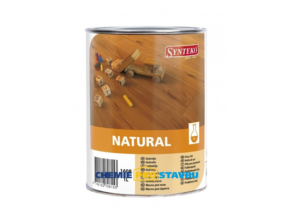 Synteko NATURAL - alkydový olej bez obsahu rozpouštědel na dřevěné podlahy