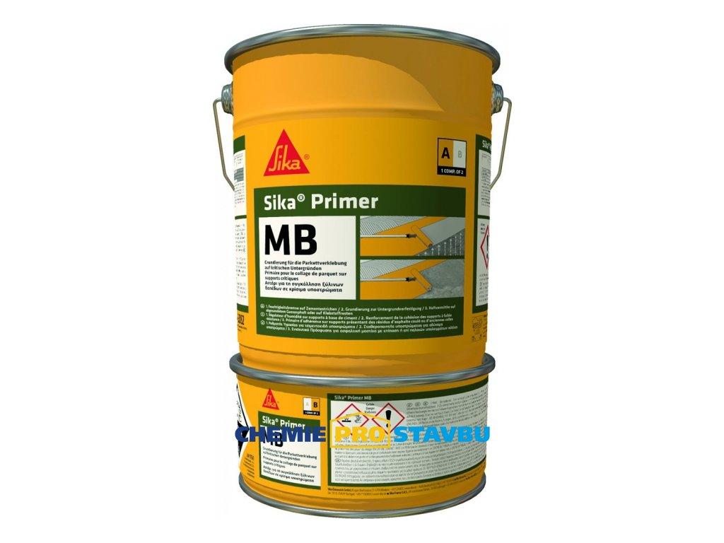 Sika Primer MB, 10 kg - epoxidový nátěr a bariéra proti vlhkosti pro lepení dřevěných podlah