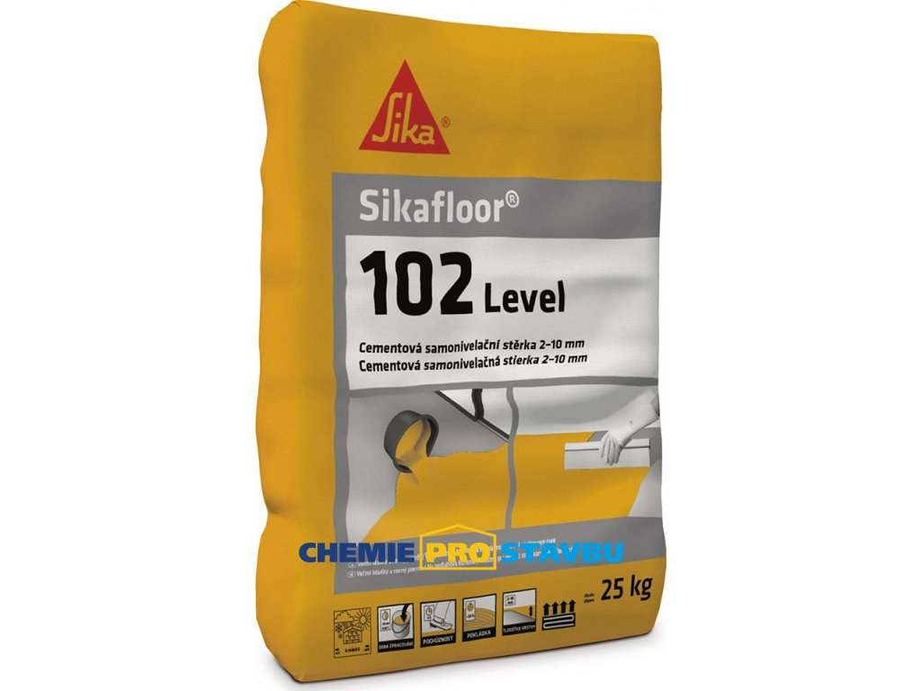 Sikafloor 102 Level, 25 kg - samonivelační stěrka pro vyrovnání podkladů v interiérech