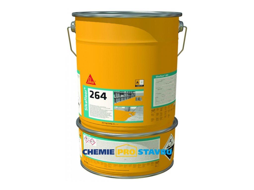Sikafloor-264  - 10kg, 30kg - barevný nátěr do hal, garáží, dílen