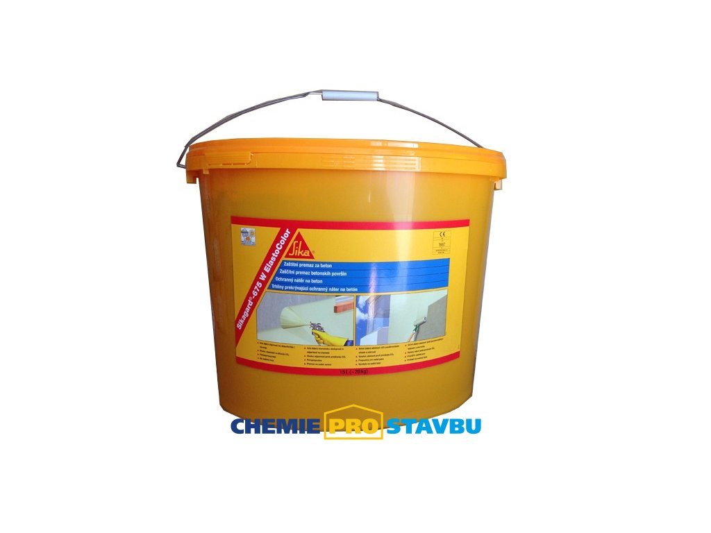 Sikagard-675 W ElastoColor RAL 7032, 15 l barva na beton