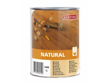 Synteko Natural olej 1l, 5l - alkydový olej bez obsahu rozpouštědel na dřevěné podlahy