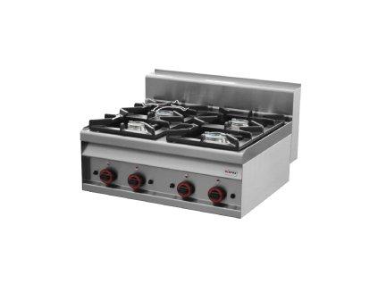 Sporák stolní plynový - 4 hořáky - REDFOX PC 8 G