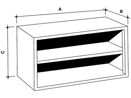 Nerezová skříňka nástěnná s policí, otevřená