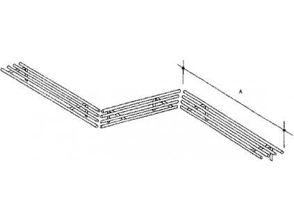Dráha trubková včetně konzol