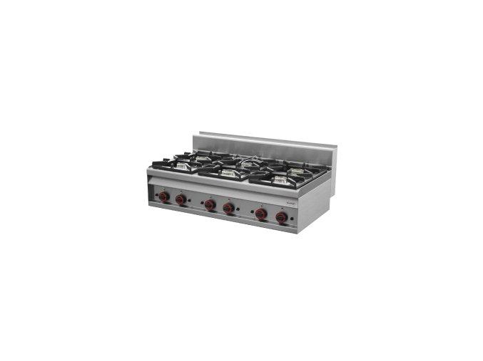 Sporák stolní plynový - 6 hořáků - REDFOX PC 12 G