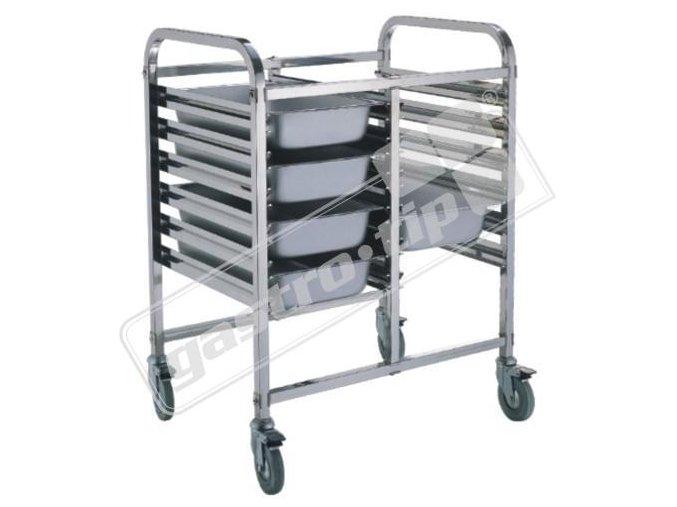 Regálový nerez vozík 12-GN