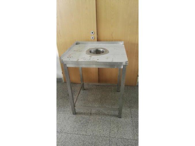 Stůl se shozem na zbytky (750x850x900)