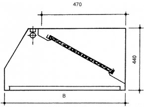 Nástěnná digestoř, šířka 1000 mm