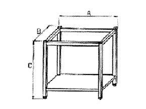 Podstavec pod konvektomat, otevřený bez vsunů