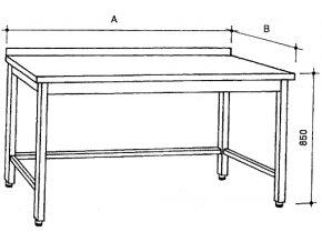 Nerezový stůl
