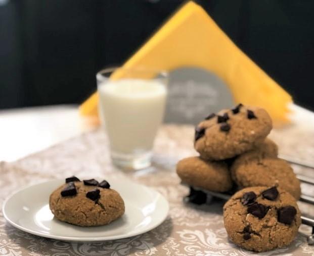 Cuketové cookies s náplní