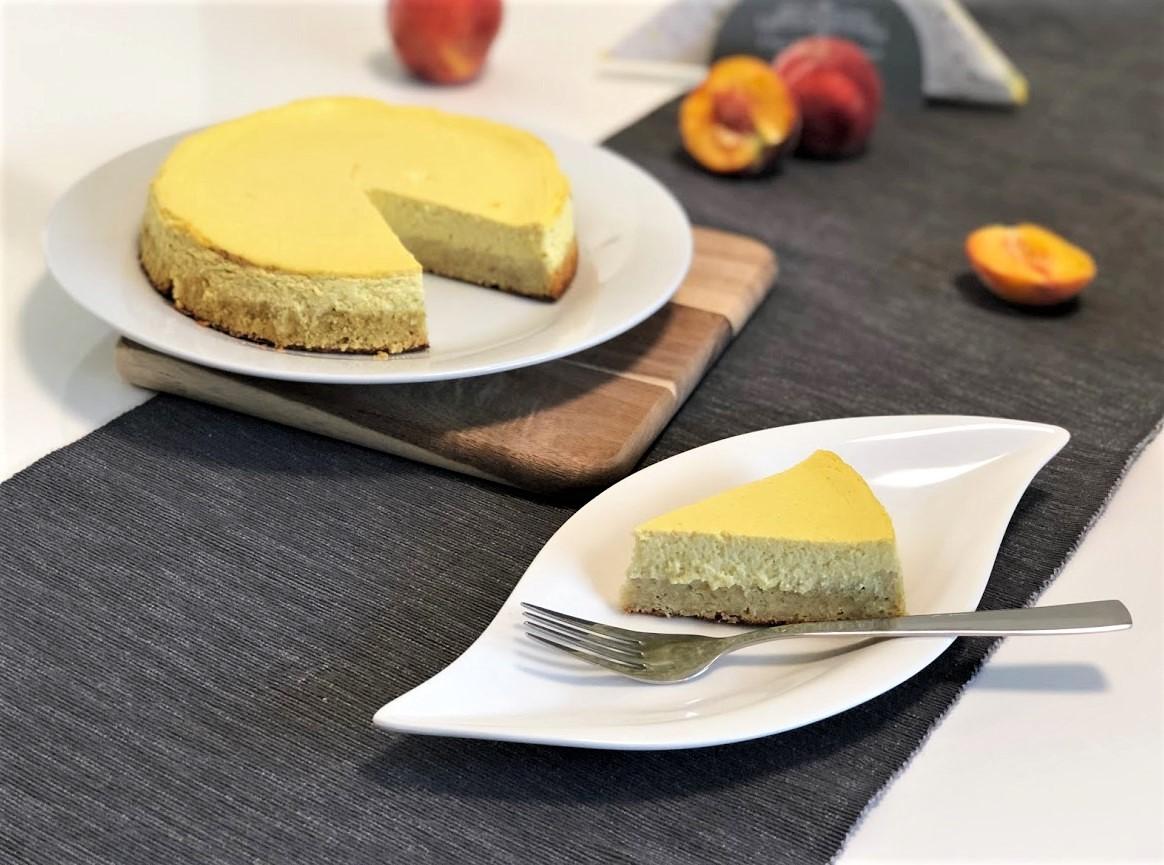 Osvěžující broskvový fitness cheesecake