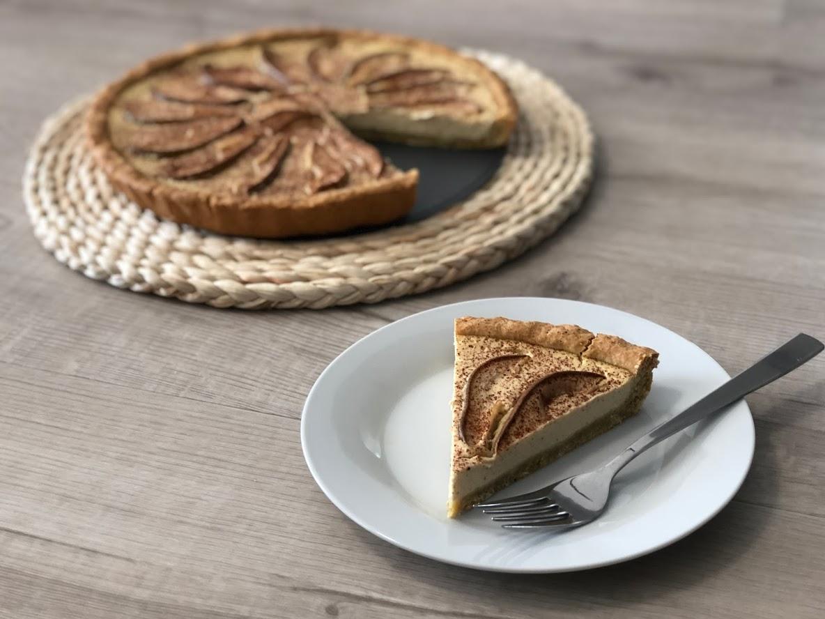Hruškový koláč z křehkého těsta