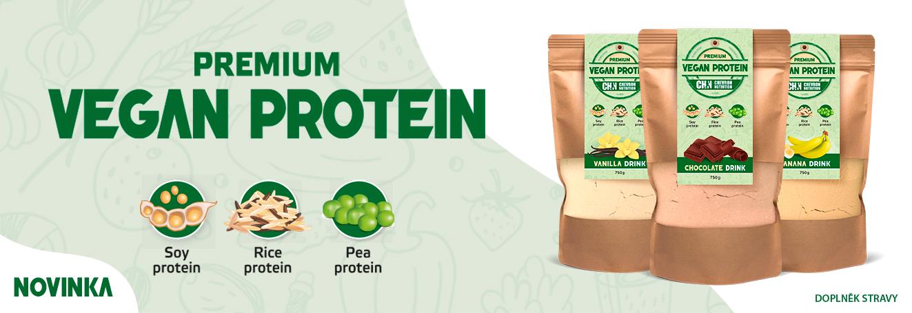 NOVINKA! Veganský protein ve 3 příchutích