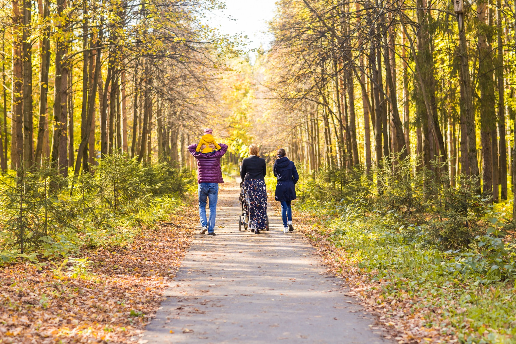 young-family-outdoors-walking-through-autumn-park-PWBLP9L (1)