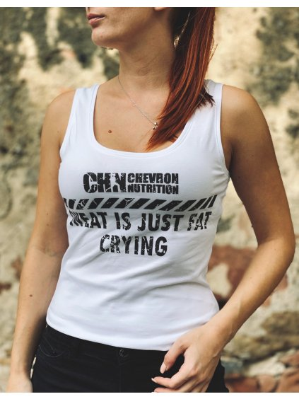 """Dámské tílko s motivem """"FAT CRYING"""""""
