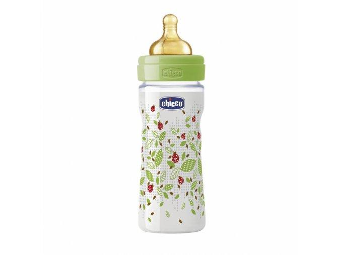 Láhev Well-Being bez BPA kaučukový dudlík nastavitelný průtok 250 ml