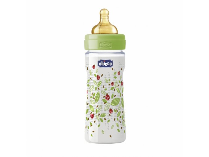 Láhev Well-Being bez BPA kaučukový dudlík střední průtok 250 ml