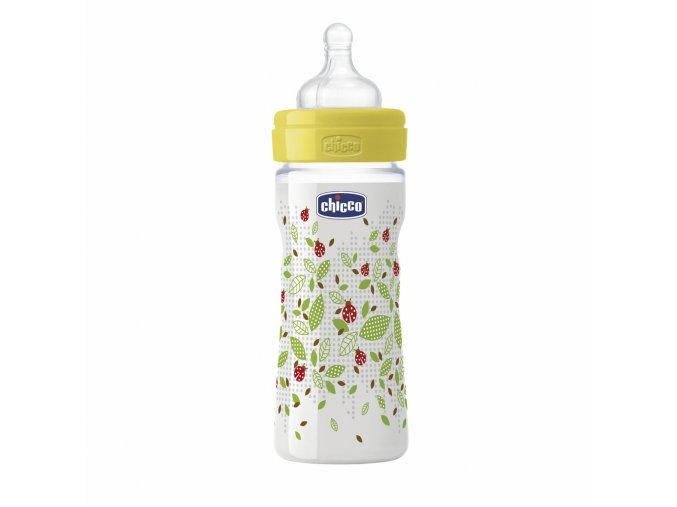 Láhev Well-Being bez BPA silikonový dudlík střední průtok 250 ml