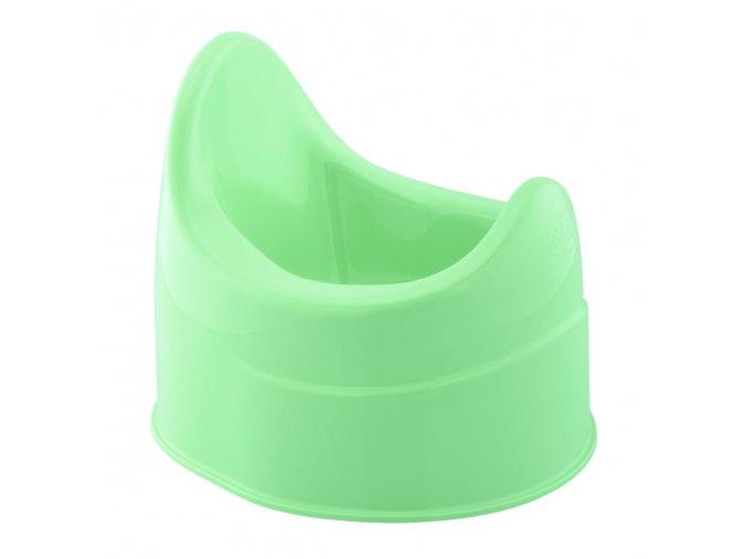 Nočník s opěrkou - zelený
