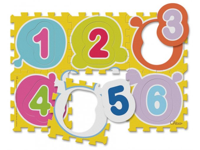 Puzzle koberec Čísla, 6 dílů