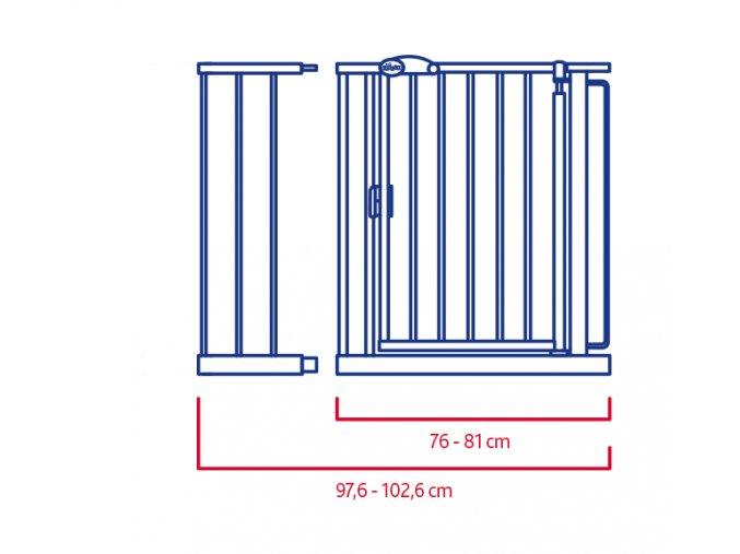 Nadstavec k zábrane na schodisko 216 mm