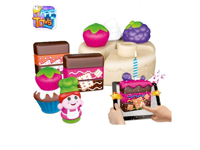 """Stavebnice """"App Toys"""" 30ks - koláčky"""