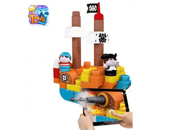 """Stavebnice """"App Toys"""" 60ks - Ostrov pokladů"""
