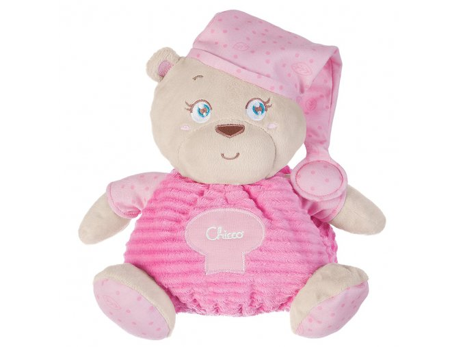 Plyšový medvídek velký v dárkové krabičce - růžový