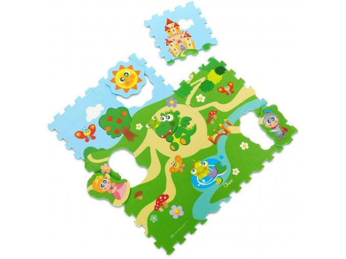 Pěnové puzzle Hrad 30x30cm 9ks
