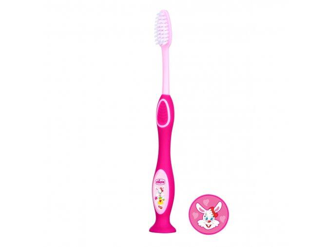 Zubní kartáček 3-6r - růžový