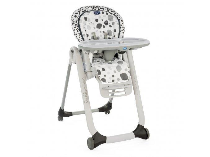 Jídelní židlička Polly Progres5 - Anthracite