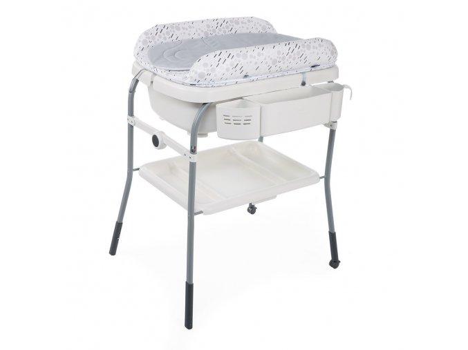 Přebalovací stolek s vaničkou Cuddle & Bubble -Cool Grey