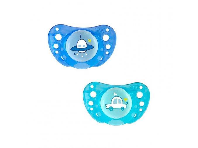 Silikonový dudlík Physio Air 16-36m  modrý, 2ks