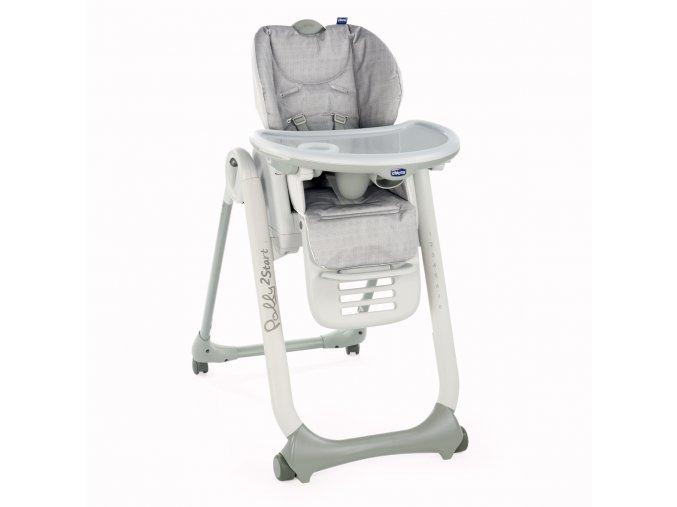 Náhradní potah na židli  Polly 2 Start - Happy Silver