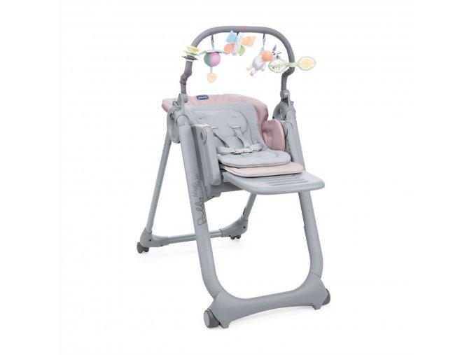 Židlička jídelní Polly Magic Relax - Paradise Pink