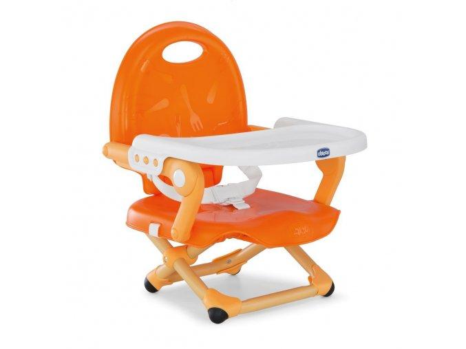 Podsedák na jídelní židli Chicco přenosný Pocket Snack - Mandarino