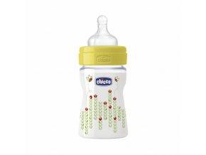 Láhev Well-Being bez BPA silikonový dudlík normální průtok 150 ml