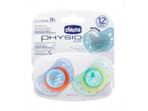 Silikonový dudlík Physio Air 12+ modrý, 2ks
