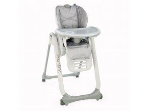 Jídelní židlička Polly 2 Start - Happy Silver