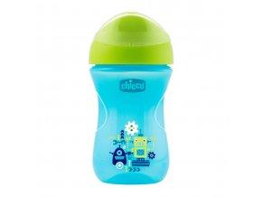 Hrneček Chicco Easy s tvrdým pítkem 266 ml, 12m + - modrý
