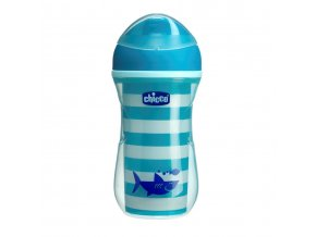 Hrneček Chicco Active termo s tvrdým pítkem 266 ml, 14m + - modrý