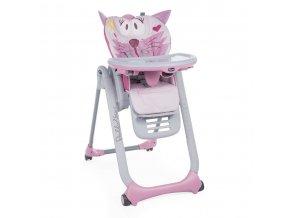 Jídelní židlička Polly 2 Start -Miss Pink