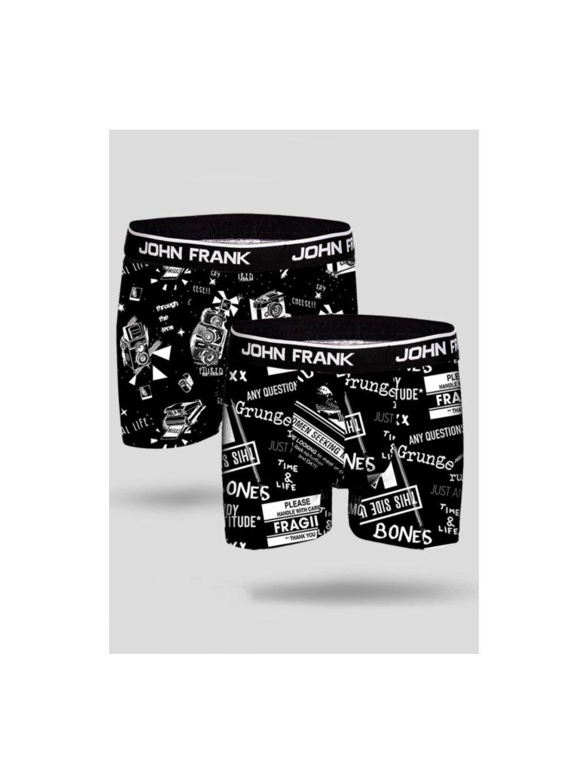 panské černé boxerky