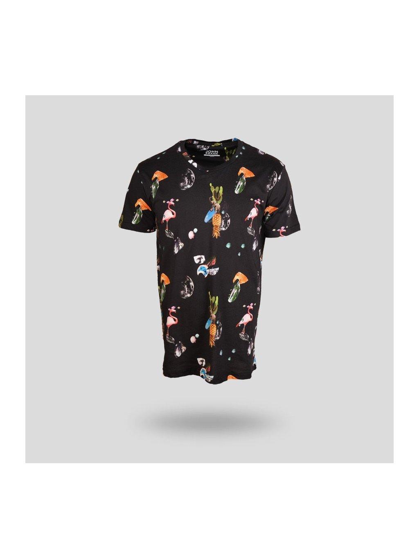 John Frank Baskili Dijital Erkek T Shirt